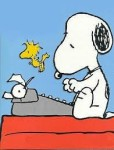 writing Snoopy